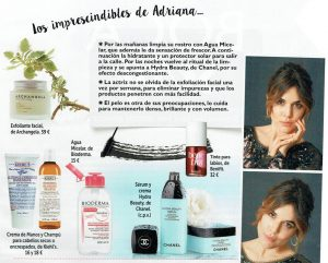 ¿Cuáles son los cosméticos imprescindibles de Adriana Ugarte?